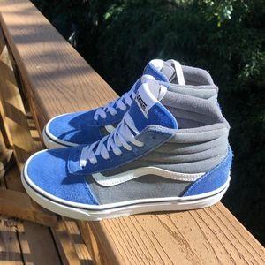 Vans Sk8 Hi Youth Boy Girl Sneakers 3.5 Blue Gray